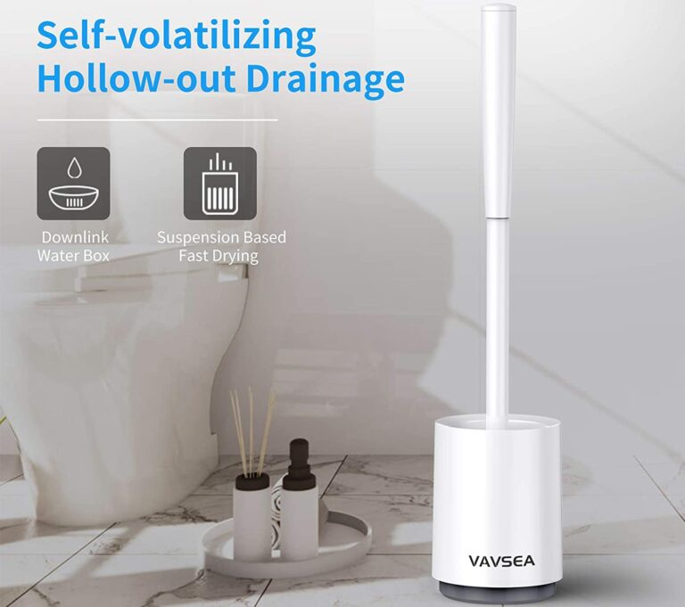 VAVSEA Toilet Brush – With Drying Holder for Bathroom, Wall Mounted Without Drilling